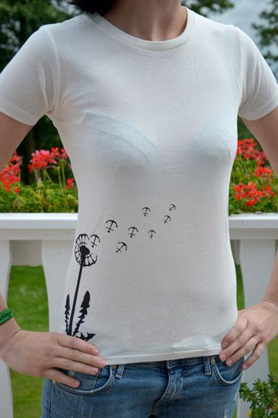 Bibi Blume t shirt weiß schwarz