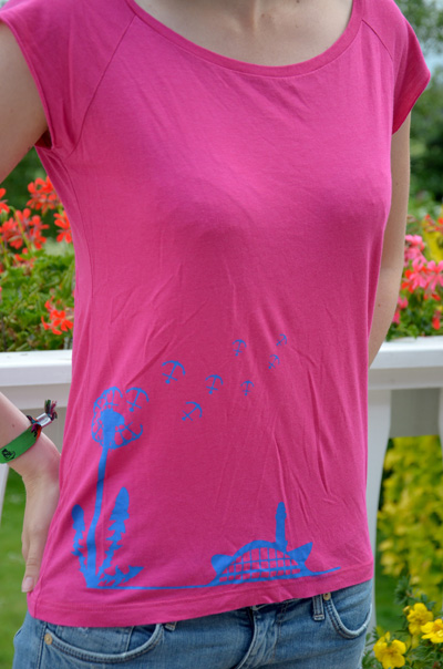 Bibi Blume shirt pink blau