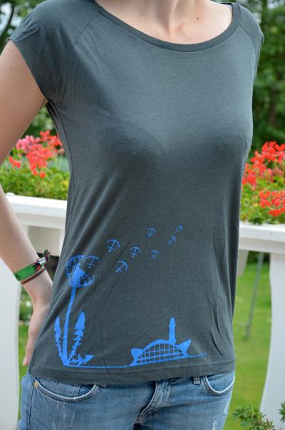 Bibi Blume shirt grau blau