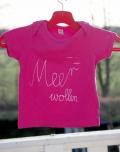 Meer wollen Babyshirt pink weiß
