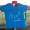Meer wollen Babyshirt blau weiß